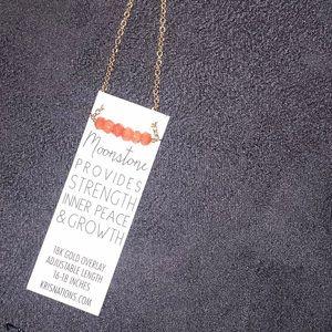 Kris Nations Jewelry - Peach Gemstone Necklace